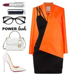 Business Meeting by pstm on Polyvore featuring polyvore fashion style Maison Rabih Kayrouz Christian Louboutin Michael Kors EyeBuyDirect.com Givenchy clothing