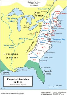 Map of the American Colonies at the outbreak of war in 1775