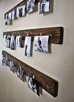 (1) Porta Retrato De Pared Rústico Con Maderas Recuperadas - $ 249,99 en Mercado Libre