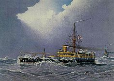 HMS héroe fue el segundo y último Conqueror -class acorazado . Ella era un férreo que sirvió en el estilo victoriano Royal Navy . Héroe fue - al igual que su hermana-nave - diseñado para ser una versión mejorada de Rupert con una memoria RAM como su armamento principal.