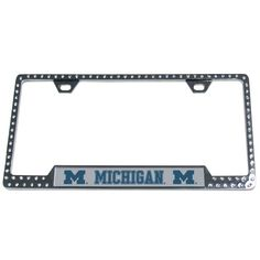 """Checkout our #LicensedGear products FREE SHIPPING + 10% OFF Coupon Code """"Official"""" Michigan Wolverines Bling Tag Frame - Officially licensed College product Mounts easily to your license plate High polish chrome finish Crystal accents around the entire frame Great way to show off your Michigan Wolverines pride - Price: $47.00. Buy now at https://officiallylicensedgear.com/michigan-wolverines-bling-tag-frame-ctfb36"""