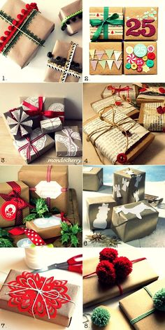Gift Wrapping Ideas {With Brown Paper}   Fuss Free Cooking