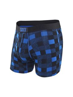 Plaid is all the rage these days, and now you can wear it from head to toe with these boxers from Saxx Vibe.