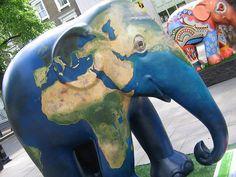 Elephant Parade London 2010:  #062. Gaia Elephant