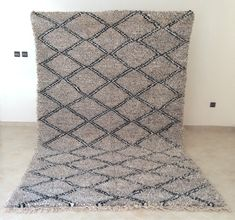 Excited to share this item from my shop: Warm beautiful Beni Ourain Rug Handmade Natural Wool, ft x ft, Berber Beauty Beni Ourain, from Morocco Beni Ouarain Berber Rug, Hand Spinning, Geometric Shapes, Handmade Rugs, Vintage Rugs, Weaving, Area Rugs, Unique Jewelry, Morocco