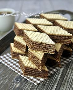 ~J Homemade Chocolate Wafers (Polish) Polish Desserts, Polish Recipes, Just Desserts, Delicious Desserts, Yummy Food, Polish Food, Chocolate Wafer Cookies, Chocolate Wafers, Homemade Chocolate