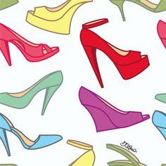 rapport #6 - shoes #illustration #rapport #shoes #pattern #fashion #art #design #drawing https://www.facebook.com/diegocelmailustrador