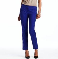 Marisa Ankle Pants in Doubleweave Cotton - LOFT