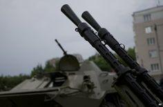 Gun barrels in Donetsk, Ukraine, 29 May