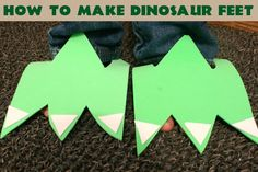 How to Make Dinosaur Feet - Party Craft Idea - Spaceships and Laser Beams