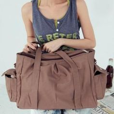 Bolsillos Casual y sólido del bolso de hombro del color del diseño de la Mujer para Vender - La Tienda En Online IGOGO.ES