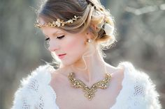 pretty gold leaf crown