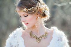 pretty gold leaf crown