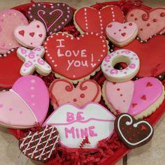 Valentine cookie tray