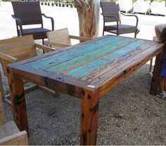 beautiful outdoor dining table