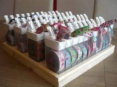Tic Tac boxes recycling or woven ribbon storage ! What a brilliant . - Tic Tac boxes recycling or woven ribbon storage ! What a brilliant … Tic Tac boxes recycling or - Craft Room Storage, Craft Organization, Recycling Storage, Closet Organization, Ribbon Storage, Storage Boxes, Ideas Para Organizar, Sewing Rooms, Ribbon Crafts