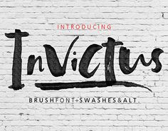 """Check out new work on my @Behance portfolio: """"Invictus Script Font"""" http://be.net/gallery/51645919/Invictus-Script-Font"""