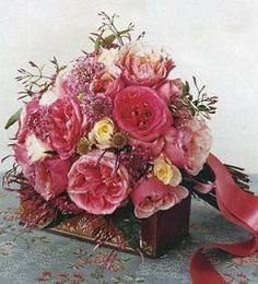 Bouquet de noiva - Tons de rosa pink - peônias