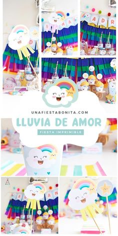 Kit imprimible para fiestas - lluvia de amor #lluviadeamor #partyideas#printable#partyprintable#etsyprintables#party#partying#partystyling#mypartystyle #partyplanner#partydecor#partyideasgroup#kidsparties#partyideasforkids#kidsparty#birthdayparties#partykids#partyinspiration#partydecoration#partydesigner#partyprintables#diypartydecor#birthdaypartyideas#ideasdedecoracion#fiesta#fiestasinfantiles Baby Shower Fruit, Baby Shower Menu, Baby Shower Wording, Baby Shower Cupcakes, Baby Shower Favors, Diy Party Decorations, Baby Shower Decorations, Gender Neutral Baby Shower, Birthday Parties