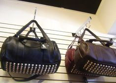 Surprise studs at the bottom of these fun bags! Now at Julia Vogue!