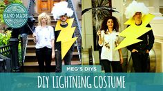 Make a DIY Lightning Strikes couples costume for you and your favorite person.