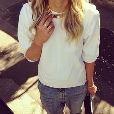 gold white detail design fashion streetstyle denim jeans blonde
