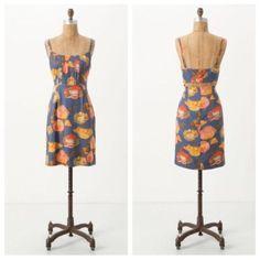 Anthropologie Maeve Peony Slip Floral Print Dress