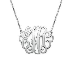 Large Monogram Necklace in Sterling Silver | MyNameNecklace