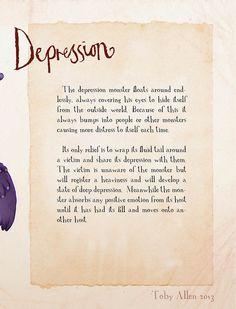 The Monsters of Mental Illness – Illustrations by Toby Allen (14 Pictures) > Illustrationen, Netzkram, Paintings > illustrations, mental illness, monsters, toby allen