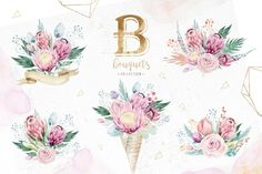 Gold protea by Peace ART on This set of high quality hand painted watercolor floral and feather elements. Perfect graphic for DIY, wedding invitations, Create Invitations, Wedding Invitations, Protea Art, Boho Flowers, Peace Art, Frame Wreath, Flower Frame, Graphic Illustration, Illustrations