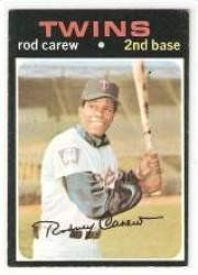 1971 Topps #210 Rod Carew - Minnesota Twins (Baseball Cards) Ex.-Near Mint by Topps. $5.00. Most Cards Shipped in Soft Sleeve and/or Top Load (See Shipping). Card Condidtion is Near Mint (NM) or Better, unless otherwise stated. Any Questions or Better Image Needed - Please Ask the Seller. 100,000s of Sports Cards Listed Here. Listing is for (1) One Single MLB Baseball Trading Card. 1971 Topps #210 Rod Carew - Minnesota Twins (Baseball Cards) Ex.-Near Mint