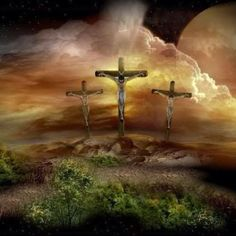 And they placed over his head the written charge against him: This is Jesus, the King of the Jews. Two revolutionaries were crucified with him, one on his right and the other on his left.