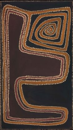 Canning Stock Route, Rover Thomas, Ochre and natural binders on canvas. Aboriginal Painting, Aboriginal Artists, Encaustic Painting, Dot Painting, Painting Styles, Desert Art, Cult, African Textiles, Clay Design