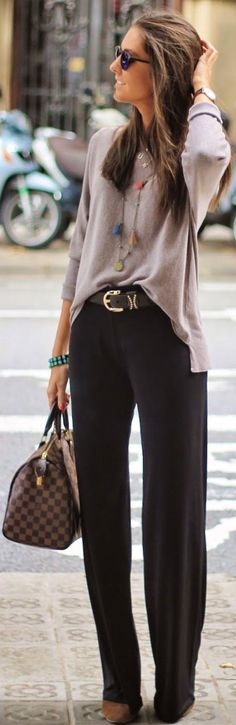 #street #style #spring #fashion #inspiration |Grey on black travel chic outfit idea | BCN Fashionista