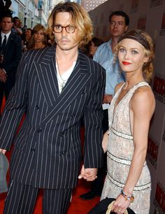Vanessa Paradis is a Soft Autumn | Johnny Depp and Vanessa Paradis at the Once Upon a Time in Mexico Premiere | ColorAlmanac.com