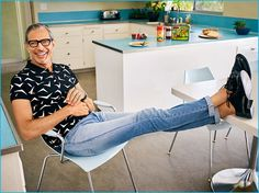 Jeff Goldblum Wears Saint Laurent for Interview, Talks Typical Work Day