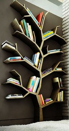 new ideas kids room walls shelves tree bookshelf