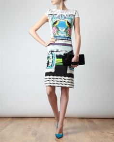 Browns fashion & designer clothes & clothing | MARY KATRANTZOU | Surrealist Print Silk Dress