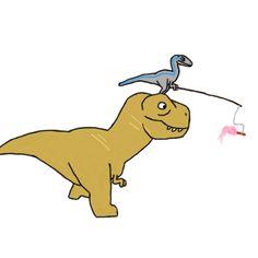 roguemessage — Jurassic World- Blue and Rexy