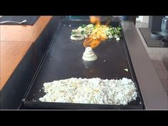 Hibachi Teppanyaki Griddle Top Cooking on a Outdoor Griddle Top Hibachi Recipes, Grilling Recipes, Cooking Recipes, Flat Top Griddle, Griddle Grill, Outdoor Hibachi Grill, Outdoor Griddle Recipes, Blackstone Grill