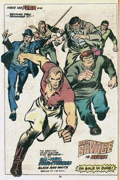 Ad for the Doc Savage magazine from Marvel Comics.
