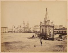 Georges Leuzinger. Largo do Paço e o chafariz de Mestre Valentim, c. 1865. Rio de Janeiro, RJ / Acervo IMS