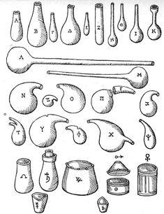 utensils from Libavius, 'alchymis' 1606