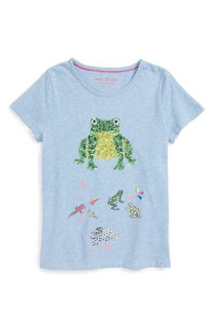 Mini Boden 'Lifecycle' Sequin Cotton Tee (Little Girls & Big Girls) available at #Nordstrom