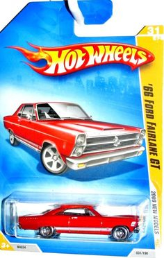 1966 Ford Fairlane GT 2009 Hot Wheels New Models #31/42 RED #HotWheels #Ford
