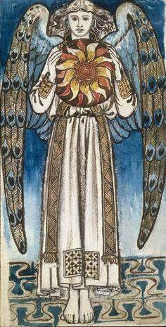An Angel holding the sun by William Morris  (1834-1896) British :: artmagick.com