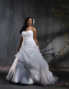 184714484c4c9 Sponsored Plus Size Wedding Dress Spotlight: Satin Organza Gown (Style  2353) From Alfred Angelo Bridal