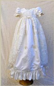 Elena Collection Isabella Silk Christening Dress | Infant Christening Gown