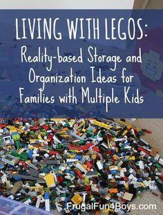 Helpful tips for organizing Legos. {Frugal Fun 4 Boys}