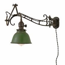 Brass Faries No.7 Articulated Wall Lamp w/Reflector c1920